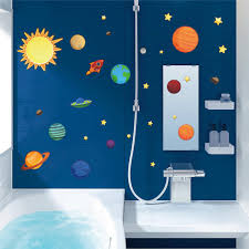 Space Room Decor Solar System Wall Stickers For Kids Rooms Stars Outer Space Sky