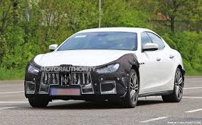white maserati sedan 2018 maserati ghibli spy shots