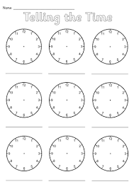 blank clocks worksheet by simon h teaching resources tes