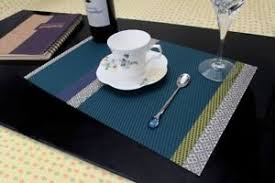 large plastic table mats placemats soft woven vinyl multi colored washable table mats