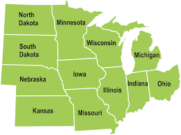 Blank Map Of Midwest States by Midwest States Map My Blog