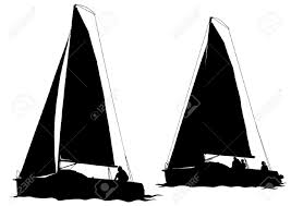 vector drawing of a sailing ship on water royalty free cliparts