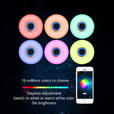 Wireless Ceiling Light Bluetooth Wireless Speaker Ceiling Led Light Lamp Controlled By