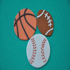 sports cake toppers fondant sports cupcake toppers football basket baseball
