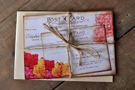 shabby chic wedding invitations shabby chic postcard wedding invitation feel wedding