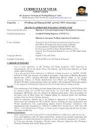 sle cv for quality assurance qa qc inspector resume daway dabrowa co