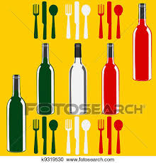clipart of italian menu template over a flag of italy k9319532