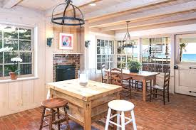 design cozy design of the kitchen areas with white wooden rustic full size of the rustic country kitchen has a brick floor wooden dining table oval backless