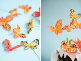 Butterfly Cake Decorations On Wire Crepe Paper Butterflies Diy