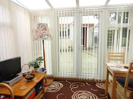 curtains with blinds in living room