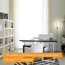 Jdl Corporate Interiors Brightech Eclipse Led Floor Lamp Double Rings Of Light Bring Sci