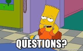 Simpsons Meme Generator - questions bart simpsons relax meme generator