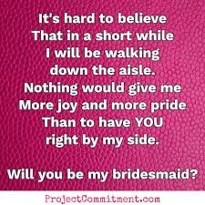 bridesmaid poems to ask 28 diy bridesmaid ideas and of honor