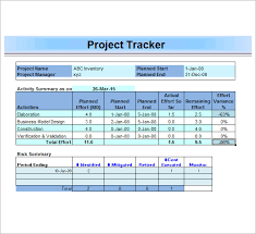 Project Tracker Template In Excel Project Management Templates Cyberuse