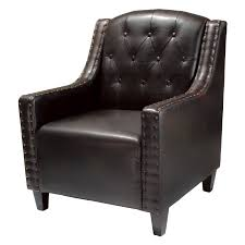 Tufted Leather Dining Chair Fancy Tufted Leather Club Chair On Home Design Ideas With Tufted