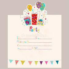 happy birthday invitation birthday greeting card with gifts and