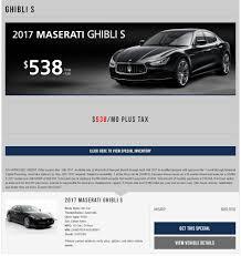 maserati of marin maserati dealership leaserank com lease offers for 2017 ghibli from 91203 us