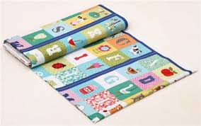 colorful abc farm animals square panel fabric by andover kawaii