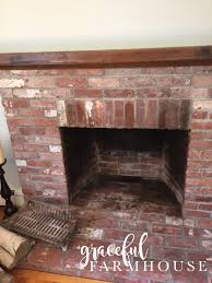 whitewash fireplace farmhouse interior design and decorating