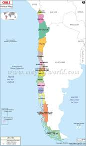 Map Of Latin America With Capitals by Political Map Of Chile Chile Regions Map