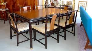 Mahogany Dining Table John Stuart Walnut U0026 Mahogany Dining Table And Six Chairs