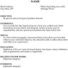 Position Desired Resume Combination Resume