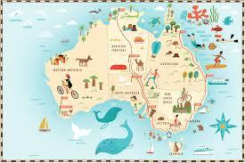 travel maps images Map of australia maps travel flag and map of australia jpg
