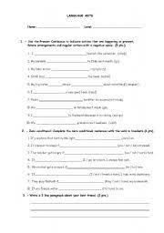 english worksheets sixth grade language arts quiz