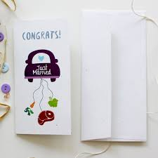congrats wedding card just married wedding card for vegetarian and meet lover
