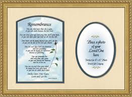 remembrance picture frame inspirational framed memorials and keepsakes