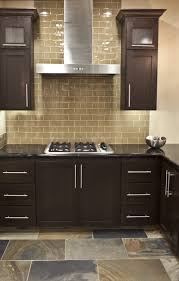 kitchen kitchen cabinets american cherry glass subway tile