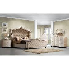 diamond tufted headboard tufted bedroom set bennett white fabric cal king size bed frame