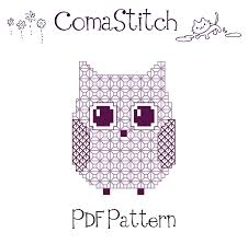 free printable owl embroidery pattern may may pinterest