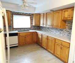kitchen elegant l shaped kitchen design with unique backsplash