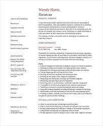 sample electrician resume template 7 free documents download in