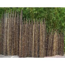 brise vue en bambou pas cher cloture bambou noir brise vue bambouland en bambou naturel noir