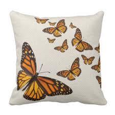 field dans ta chambre monarch butterflies on burlap field pillow retro gifts style
