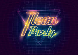 neon party neon party design vector image 1962534 stockunlimited