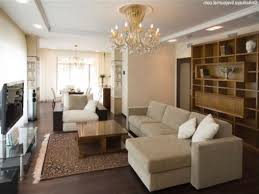 small apartment interior design brown sofa on heavenly carpet