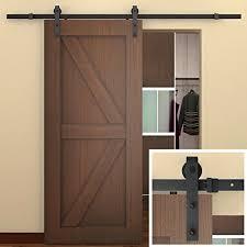 8 Ft Patio Door Smartstandard 8 Ft Sliding Barn Door Hardware Black Commercial