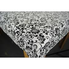 heritage black vinyl tablecloth wipe clean tablecloth
