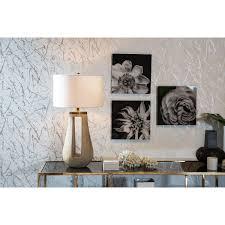 kelly hoppen black u0026 white flower print candelabra inc