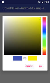 android color picker android create color picker dialog exle tutorial using github