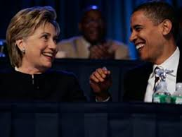clinton and obama laughing after secret late night meeting