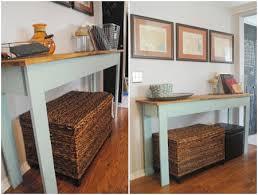 Entryway Console Table Scrap Wood Console Table 11 Genius Diy Mud Room Or Entryway U2026