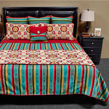 Lone Star Western Decor Coupon Laredo Turquoise Basic Bed Set Twin Plus