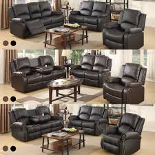 Loveseat Couch Sofa Set Loveseat Couch Recliner Leather 3 2 1 Seater Living Room