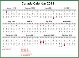 canada calendar 2018 calendar