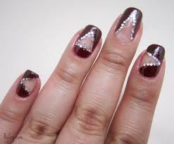 negative space nail art tutorial using scotch tape read more at