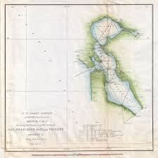 Map Of San Francisco by File 1853 U S Coast Survey Map Of San Francisco Bay California